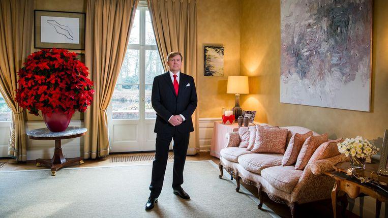 Koning Willem-Alexander tijdens zijn kersttoespraak. Beeld null