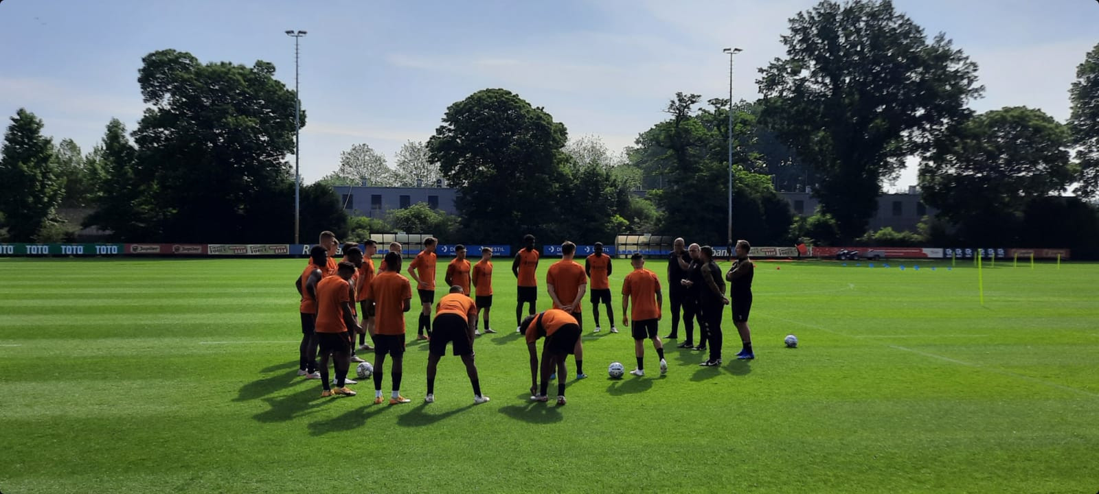 De eerste training van Willem II.