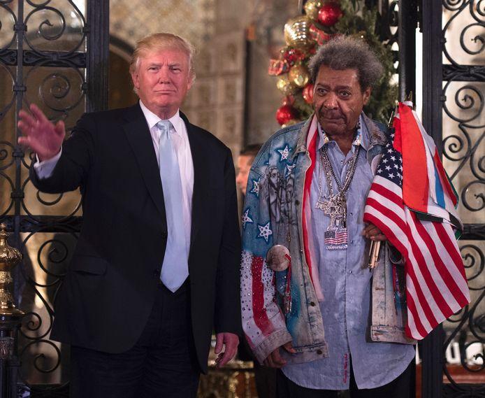 Donald Trump met bokspromotor Don King.