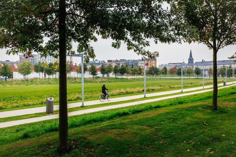 Het Antwerpse Park Spoor Noord.  Beeld Wouter Van Vooren