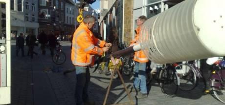 Lantaarnpalen op Markt vervangen