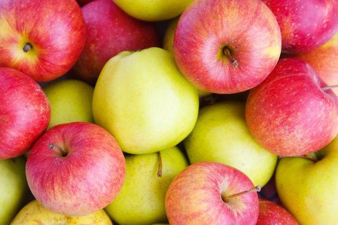 Rode appels bevatten meer voedingsvezels.