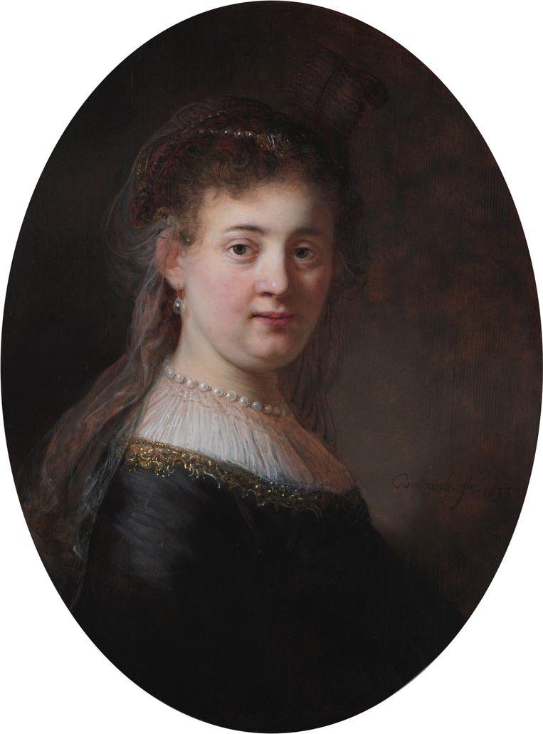 'Rembrandt kon zich als geen ander inleven in mensen. Kijk maar eens naar dit portret van Saskia van Uylenburgh uit 1633.' Beeld RV - Collectie Rijksmuseum Amsterdam