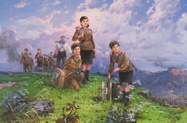 An Ch'ang-gŏ, Een scene uit de Koreaanse oorlog, 1991. Beeld Drents Museum