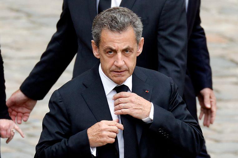 Voormalig Frans president Nicolas Sarkozy. Beeld REUTERS