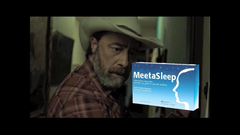 Laurent Berger in reclame voor MeetaSleep Beeld VRT