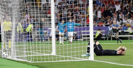 La détresse de Loris Karius contraste ce soir avec la joie de Gareth Bale.