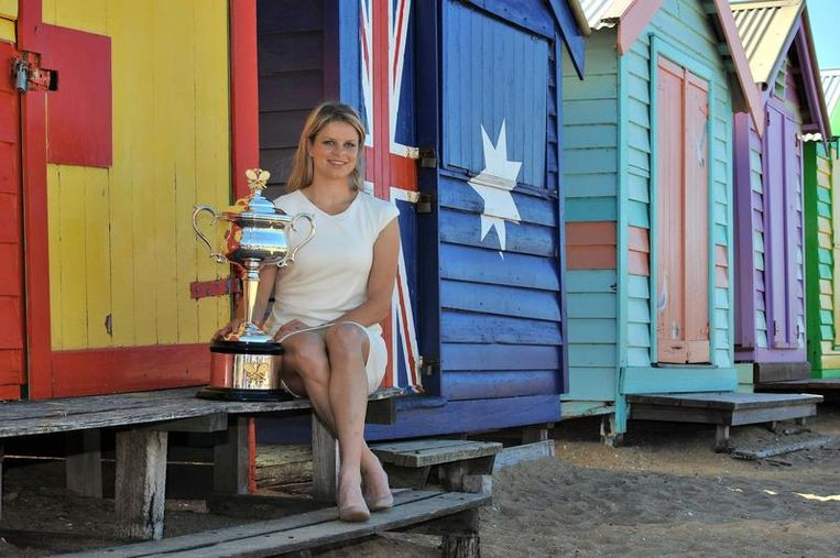 De kleurrige strandcabines van Brighton Beach vormden een ideaal decor voor een fotosessie Beeld BELGA