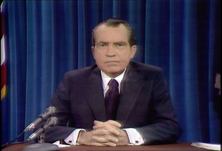 President Richard Nixon in de film 'In Event of Moon Disaster'. Een deepfake film. Beeld rv