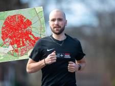 Rens (28) rent door álle straten van Apeldoorn voor bijzonder doel: 'Iedereen vraagt: hoe staat het met de straatjes?'