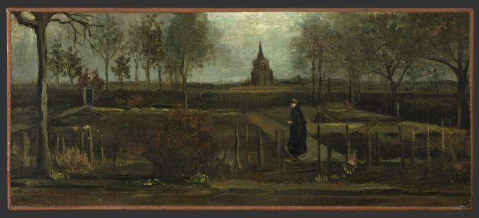 """Het schilderij """"Lentetuin, de pastorietuin te Nuenen in het voorjaar"""" van Vincent van Gogh."""