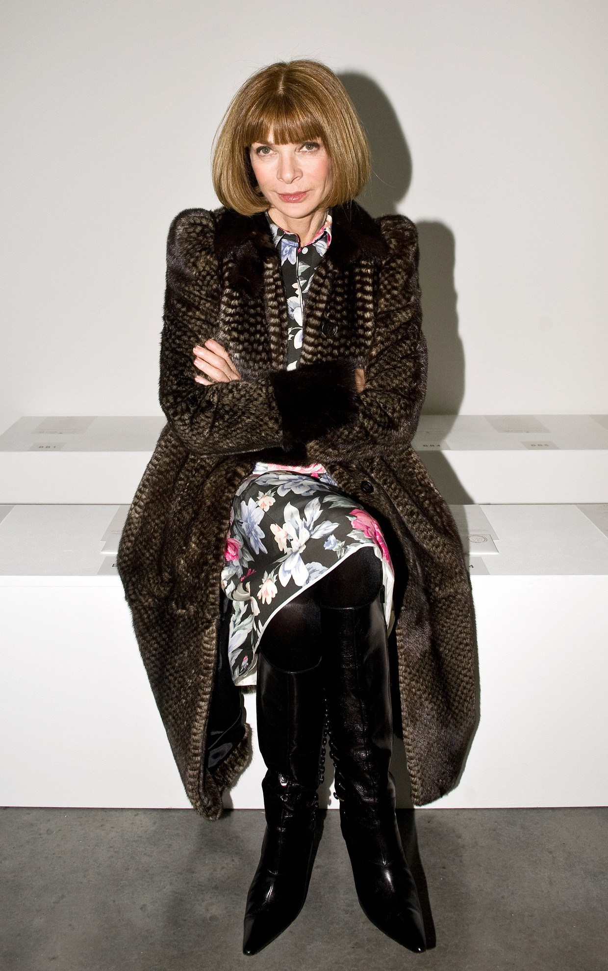 Anna Wintour tijdens de London Fashion Week in 2012. Beeld Getty Images