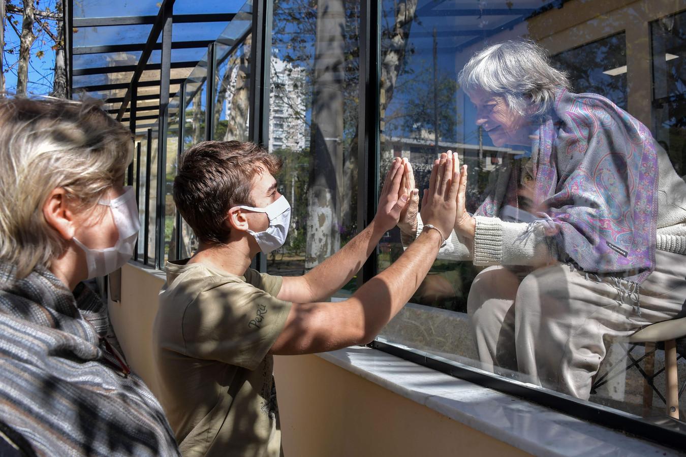 Visite familiale dans un hôpital de Sao Paulo, au Brésil, fin mai