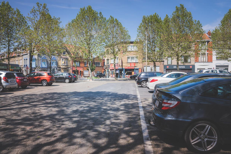 Het Van Beverenplein in Gent Beeld Wannes Nimmegeers