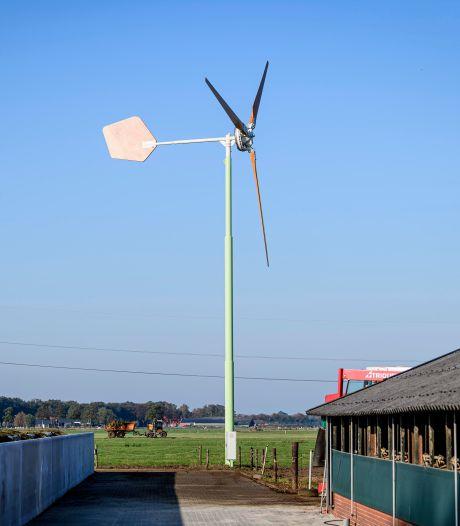 Veertig boerderijen in Zaltbommel zouden met kleine windmolen genoeg stroom voor zichzelf kunnen opwekken