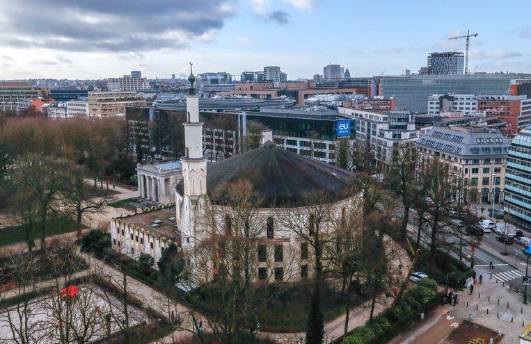 De Grote Moskee, in het Jubelpark in Brussel Beeld REUTERS