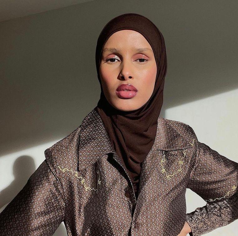 Model Rawdah Mohamed. Beeld Instagram