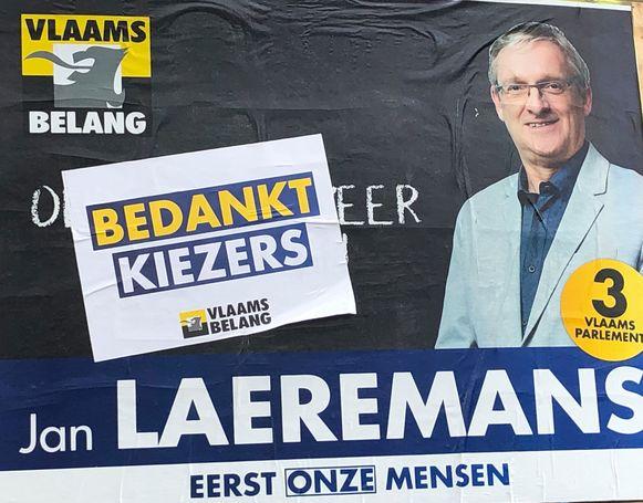Laeremans bedankt zijn 7.338 kiezers.