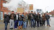 'Dampers' protesteren voor woning Maggie De Block