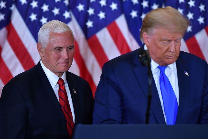Mike Pence en Donald Trump, toen alles nog koek en ei was.