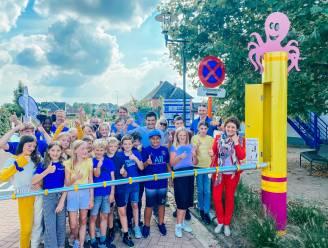 Vlaams minister Lydia Peeters opent nieuwe schoolstraat van BVS De Horizon in Zonhoven