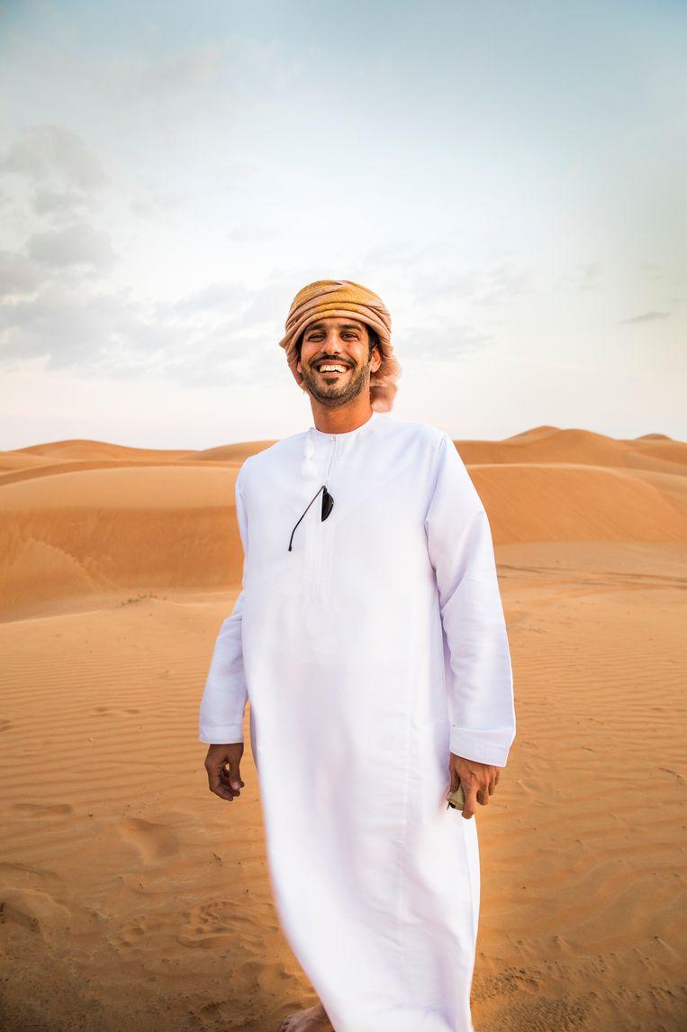 Onze woestijngids Mohammed Hamail Al Hajri. Beeld Marie Wanders
