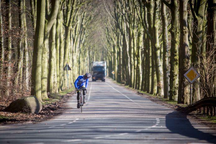 Vrachtverkeer op de Fonteinallee in Dorrwerth.