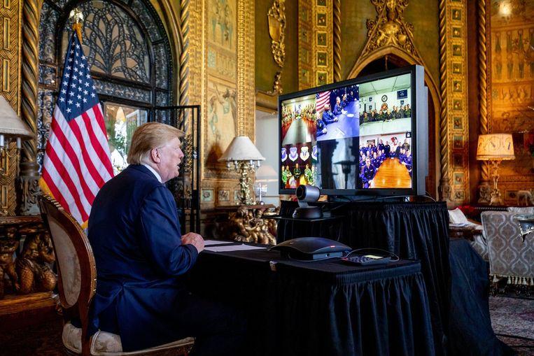 De Amerikaanse president Donald Trump. Beeld Photo News