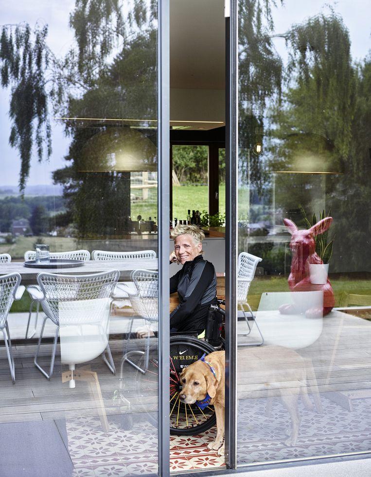 Marieke Vervoort in 'Het Huis'. Beeld VRT - Dries Teuwen