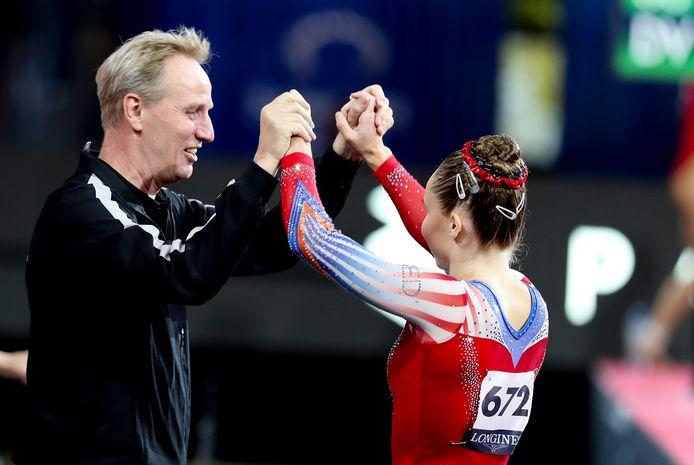 Eythora Thorsdottir met coach Vincent Wevers.