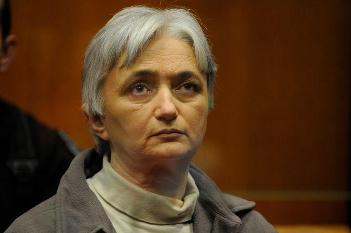 Monique Olivier, de moeder van Selim, tijdens het Franse assisenproces in 2008.