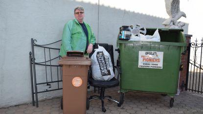 Propere pionier Rudy haalt in zijn eentje 1.300 kilogram zwerfvuil op langs Zelzaatse straten