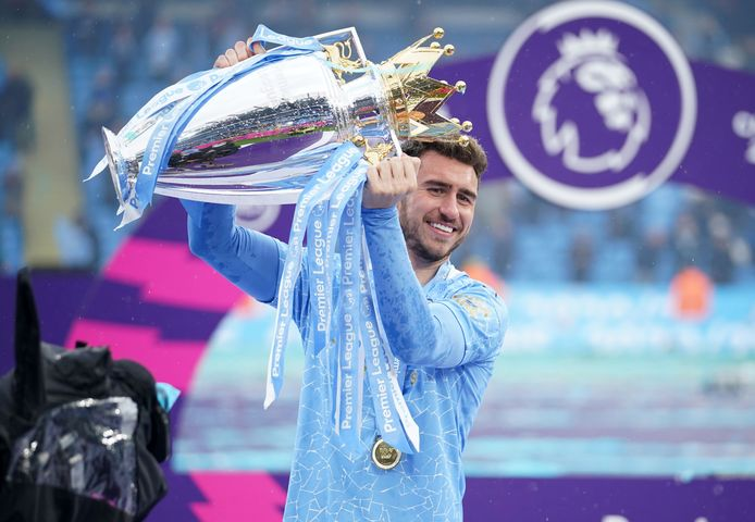 Laporte werd kampioen met Manchester City dit seizoen.