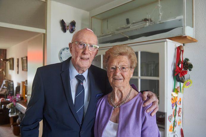 John Nagelgast (94) en Ria Nagelgast-Suijker (93).