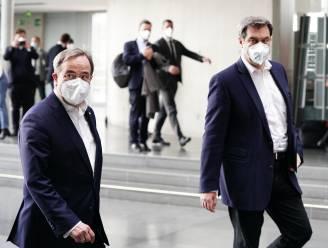 Markus Söder en Armin Laschet kandidaat om Angela Merkel op te volgen