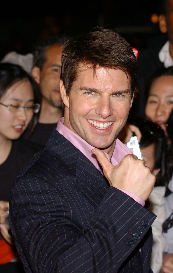 """Acteur Tom Cruise zoals steeds in z'n nopjes. Hier tijdens de première van """"Mission Impossible"""" in 2006."""