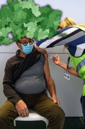 IN KAART. Zoveel 65-plussers zijn er al gevaccineerd in uw gemeente