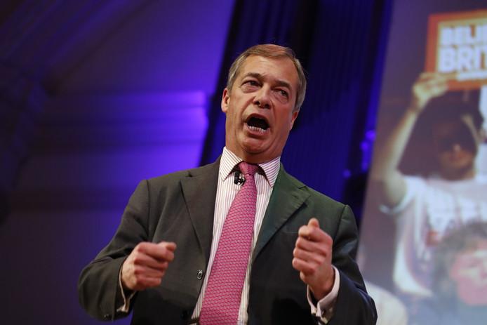 Voormalig leider van de UKIP, Nigel Farage.