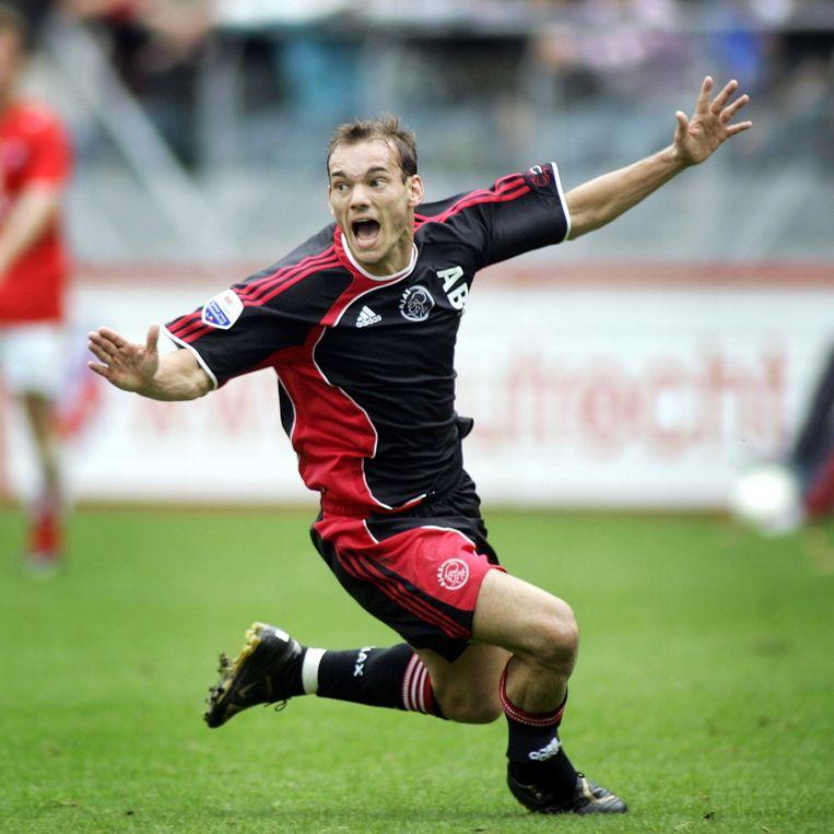 Wesle Sneijder tijdens Utrecht - Ajax (2-3) in 2006. © PRO SHOTS Beeld