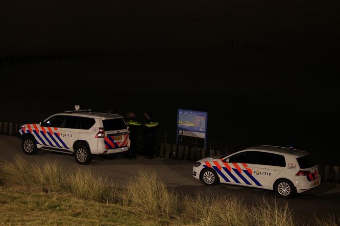 Politie op het strand van Zoutelande