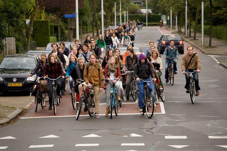 Fietsers in Utrecht Beeld Rob Huibers