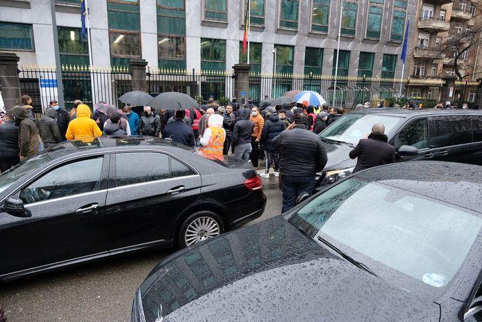 Het protest zorgt voor heel wat verkeershinder.
