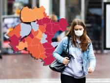 KAART | Coronakaart kleurt donkerrood in Oost-Nederland, Staphorst weer negatieve uitschieter