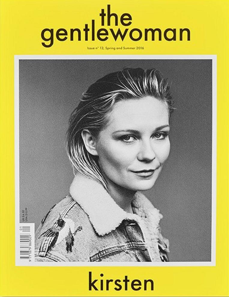 The Gentlewoman, Kirsten Dunst.  Beeld kos
