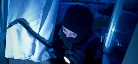 Inbreker zakt door dak in Wilp en valt op agent, terwijl zijn maat in de prullenbak bij de buren zit