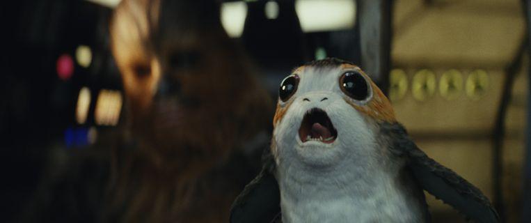 Benieuwd hoe het nieuwe 'Star Wars'-beest Porg ruikt. Beeld AP