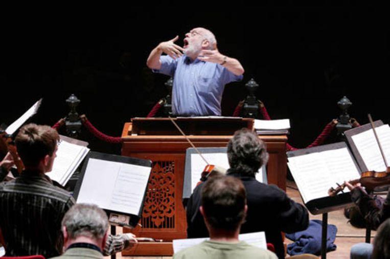 Ton Koopman dirigeert zijn Amsterdam Baroque Orchestra. (Jean Pierre Jans - de Volkskrant) Beeld null