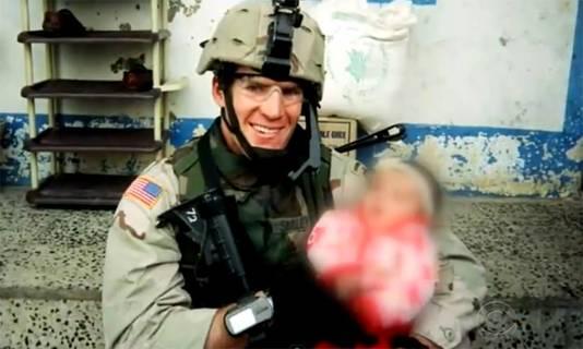 Scott Smiley in Irak.