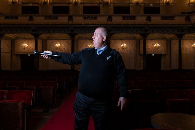 Danny van Ekeren in het Concertgebouw. Beeld Dingena Mol