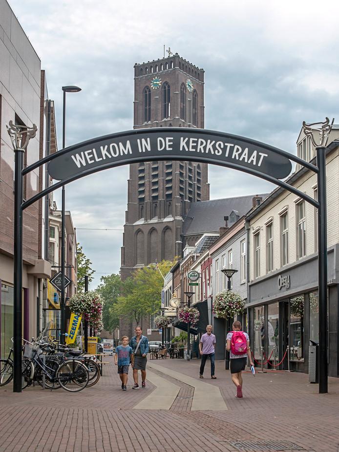 De Kerkstraat in Oss.